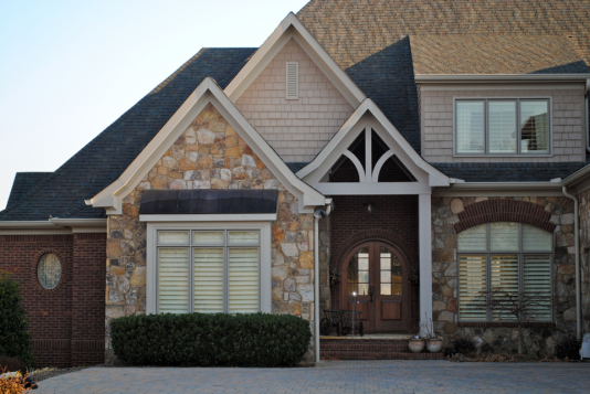 Photo of Knoxville Lake Home | Custom Roof and Arched Front Doorway