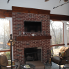 Photo of Screened Porch Fireplace