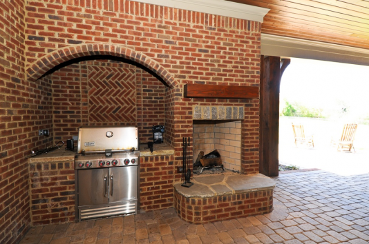 Beaver Home Builders, Inc. | Outdoor BBQ and Fireplace
