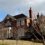 Stately Brick Home Street View