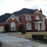 Stately Brick Home Side View