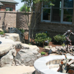Beaver Home Builders, Inc. | Outdoor Falls and Fire Pit Area