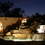 Beaver Home Builders, Inc. | Outdoor Falls at Night